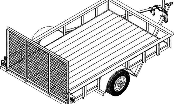 Utility Trailer Blueprints Northern Tool Equipment