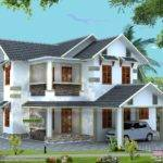 Vastu Compliant Sloping Roof House Home Design Simple