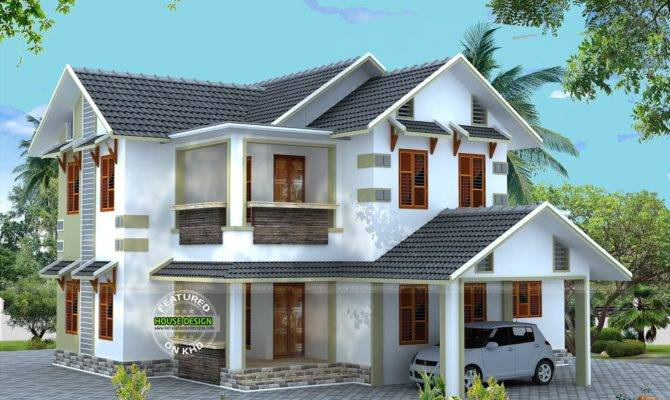 Vastu Compliant Sloping Roof House Home Design Simple Home Plans Blueprints 133540