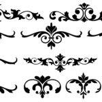 Vector Floral Dividers Photoshop Graphics Add Ons