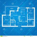Vector Plan Blue Print Flat Design