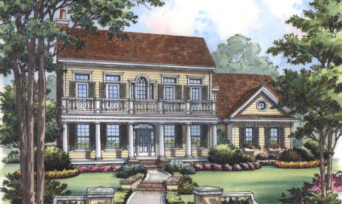 Venice Gardens Southern Home Plan House Plans More