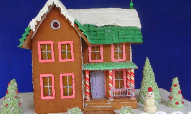 Victorian Gingerbread House Template Style Design