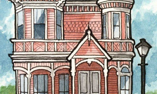 Victorian House Illustration Pixshark