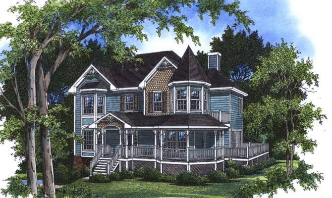 Victorian House Plans Turrets Charming Home