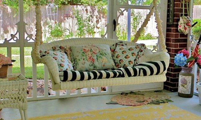 Victorian Screened Porch Delightful Swing Don Just Want