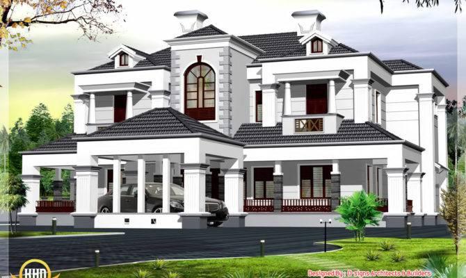 Victorian Style Bhk Home Design Kerala