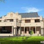 Victorian Style Super Luxury Home Design Kerala