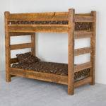 Viking Log Furniture Barnwood Bunk Bed