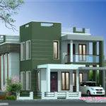 Villa Elevation Feet Kerala Home Design Floor Plans