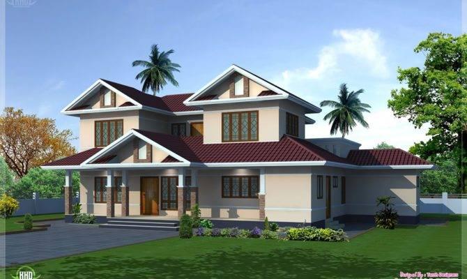 Villa Exterior Floor Plan Kerala Home Design Plans
