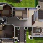 Villa Modern House Floor Plans Sims Home Design