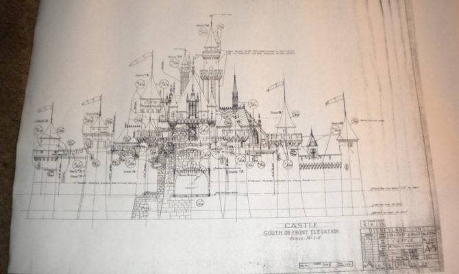 Vintage Blueprint Copy Sleeping Beauty Castle Eastavenue