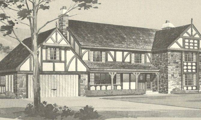Vintage House Plans English Style Tudor Homes Antique Alter