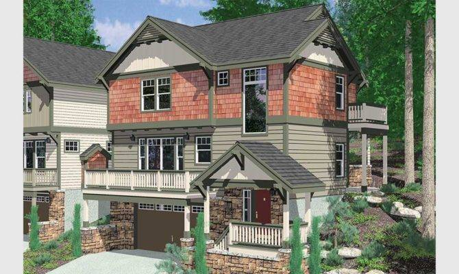 Walkout Basement House Plans Daylight Sloping Lot