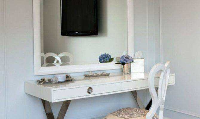 Wall Mounted Makeup Vanity Home Design Ideas Also Bedroom