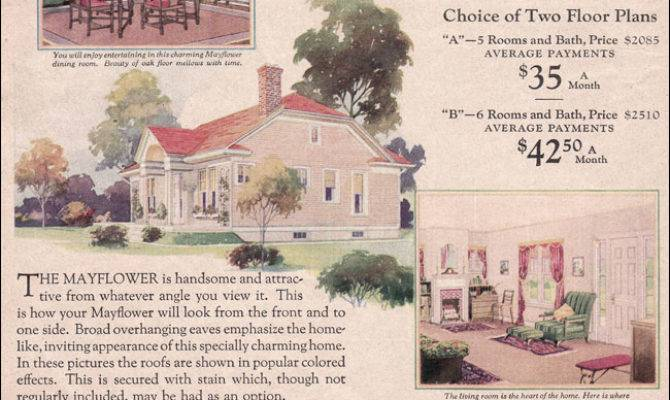 Wardway House Plans Colonial Revival Cottage