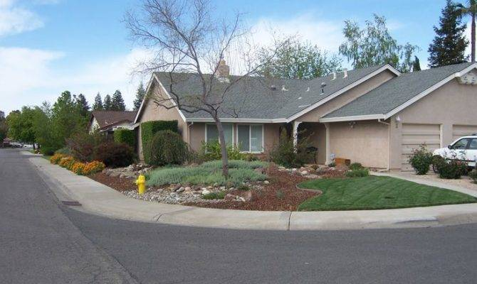 Waterwise Landscaping Corner Lot Front House Pinterest