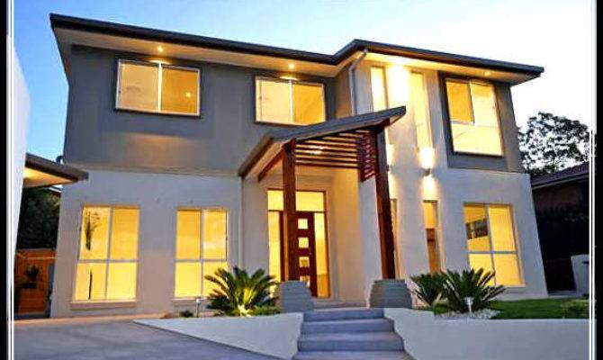 Welcoming Naturally Wood Stone Exterior House Designs