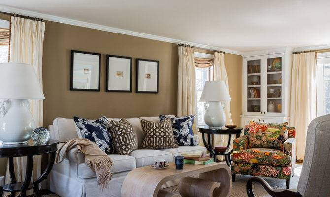 Wellesley Colonial Contemporary Living Room Boston