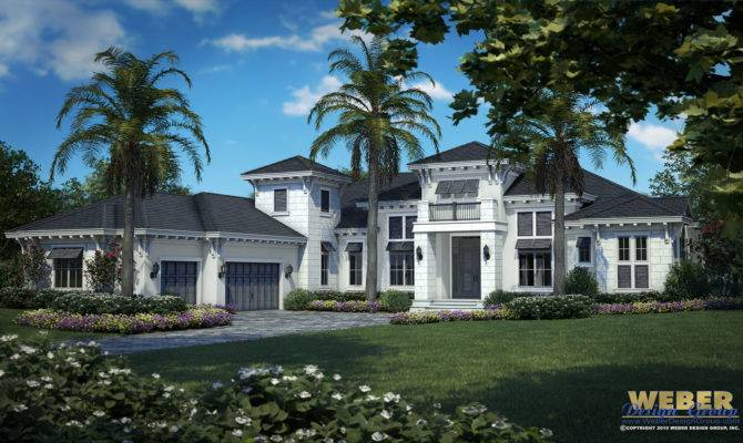 West Indies House Plan Coastal Contemporary Floor