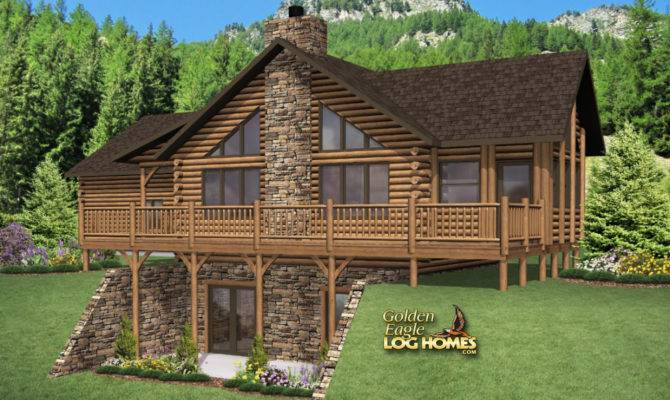 Western Style Log Home Plans