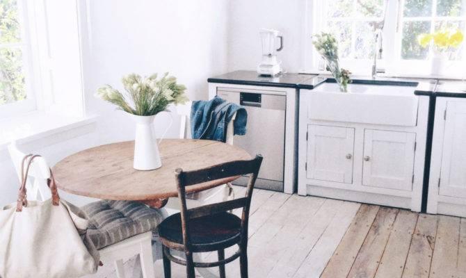 White Cottage Kitchen Milk Honey Home Hgtv