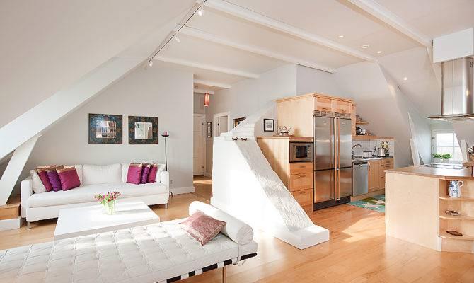 White Open Plan Living Room Interior Design Ideas