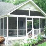 White Screen Porch Plans Home Decoration