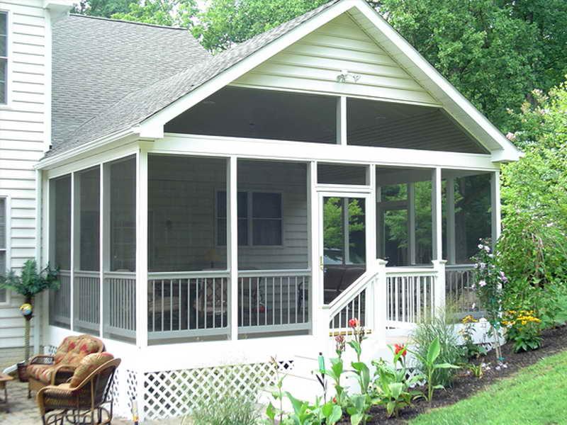 White Screen Porch Plans Home Decoration Blueprints