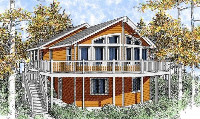 Wide Open Lakefront Home Plan Floor Master