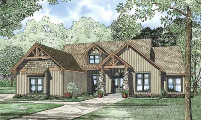 Wilburton Craftsman Ranch Home Plan House