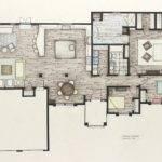Winsome Villa Interior Design Country Living Room Plan