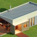Wonderful Energy Saving Home Design Gray Flat Roof Idea