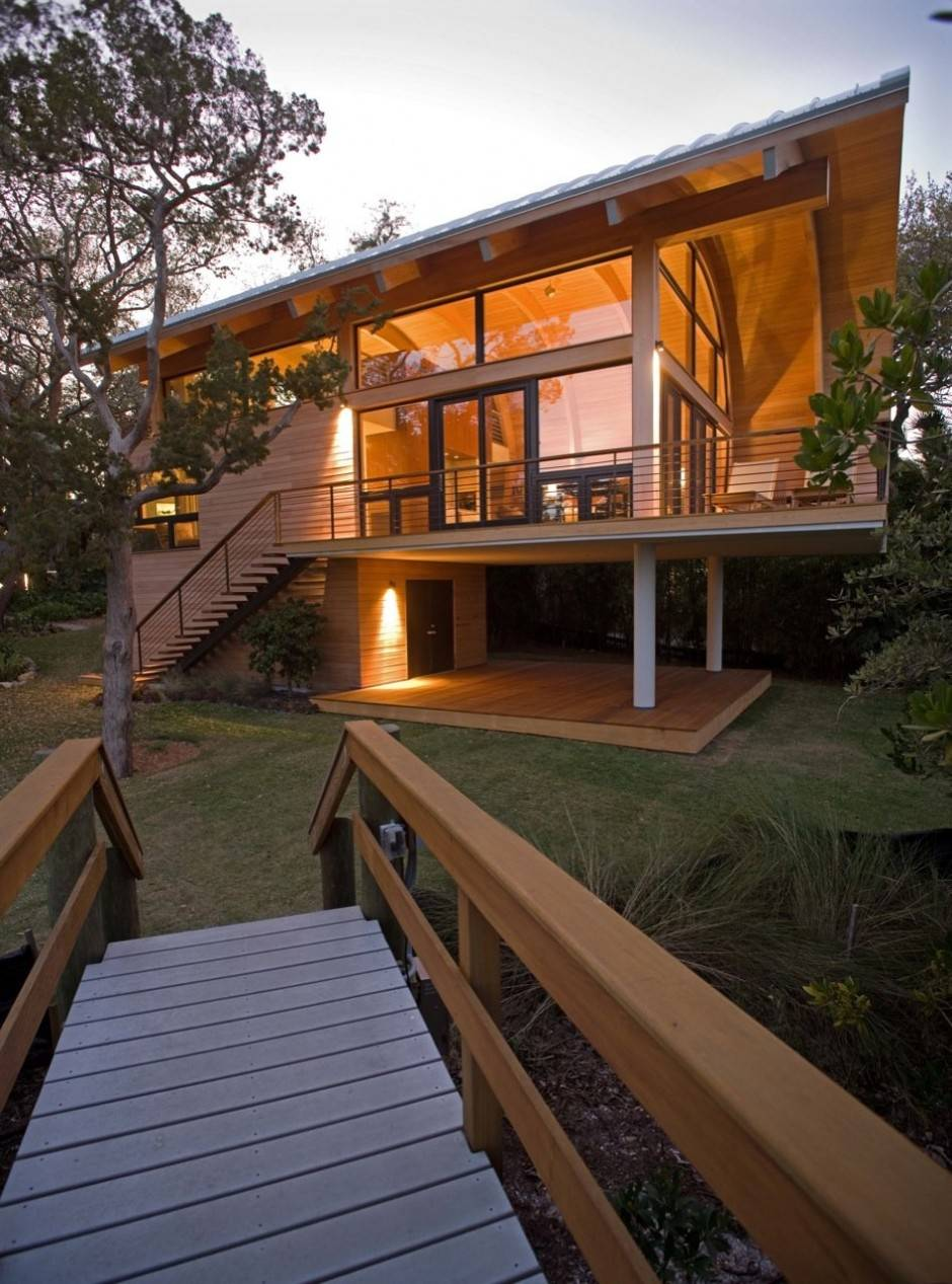 Wood Casey Key Guest House Design Totems Architecture Home