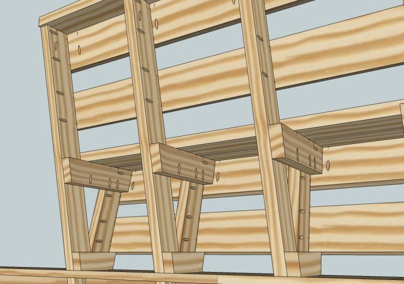 Wood Deck Bench Plans Build Diy Woodworking Blueprints Pdf