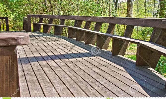 Wood Deck Design Bench