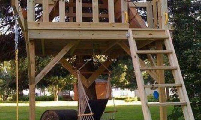 Wood Pallet Playhouses Kids Upcycle Art