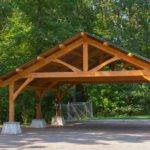 Wooden Carport Structures Classic King Post Dreaming Creek