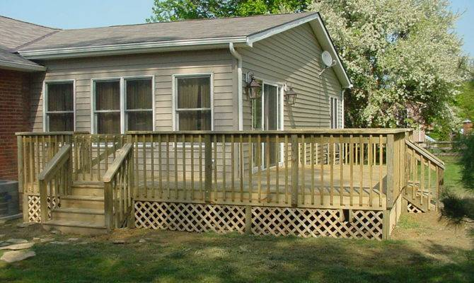 Wooden Decking Plans Top Wood Deck Colors Designs Ideas