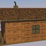 Wooden House Model Game Ready Cgtrader