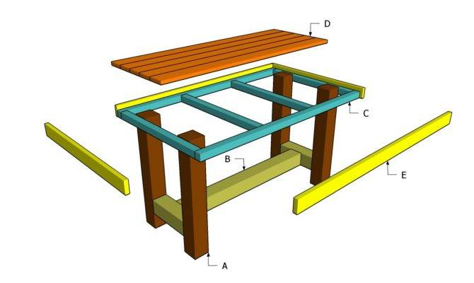 Wooden Table Plans Outdoor Diy Shed Playhouse