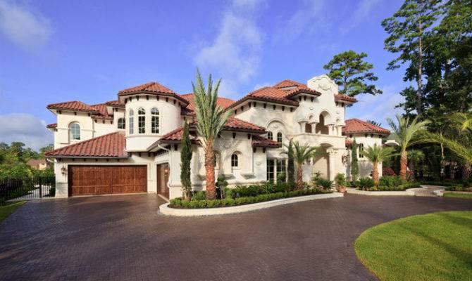 Woodlands Custom Home Mediterranean Exterior Houston