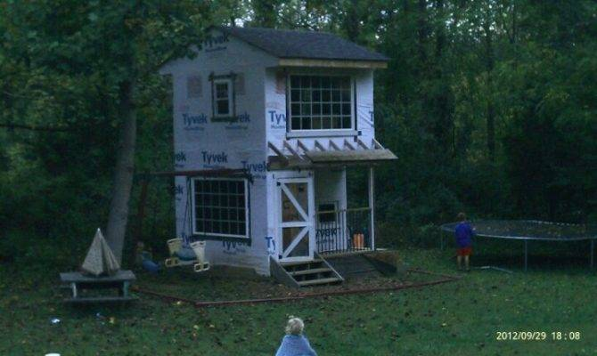 Woodwork Two Story Shed Playhouse Plans Pdf