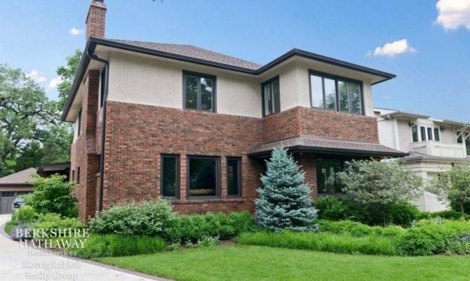 Wow House Rebuilt Prairie School Home Screened Porch Oak Park
