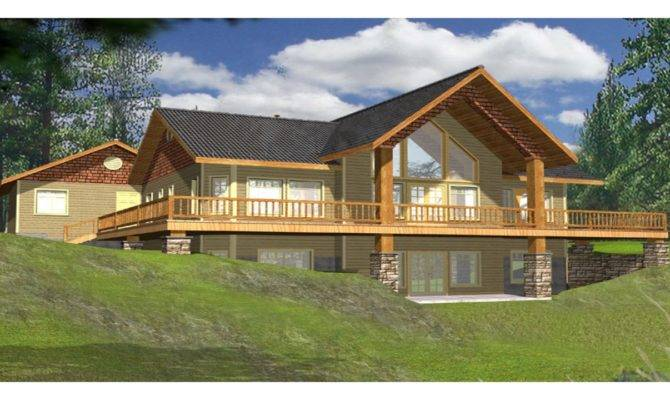 Wrap Around Adobe Homes Lake House Plans