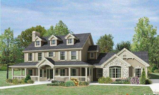 Wrap Around Front Porch Extraordinary Stonework Roof Dormers