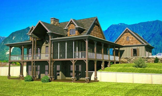 Wrap Around Porch House Plans Rustic