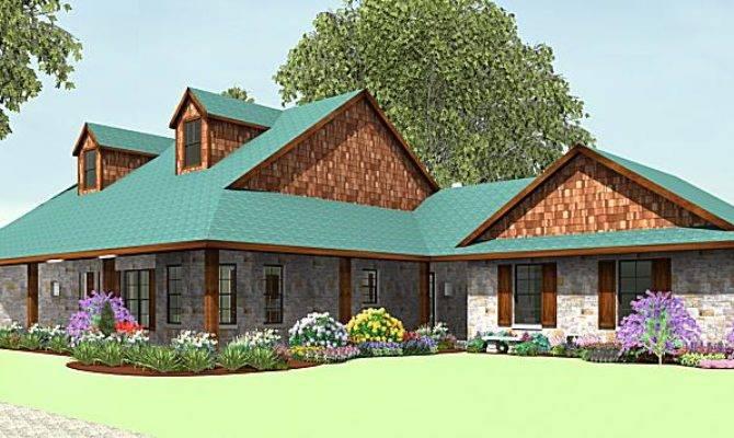 Wrap Around Porch Texas House Plans Over