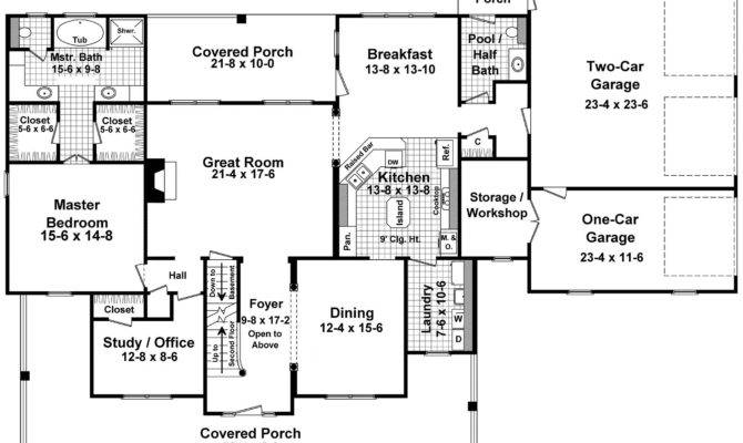 Wrap Around Porches First Floor Plan Maverick Custom Homes